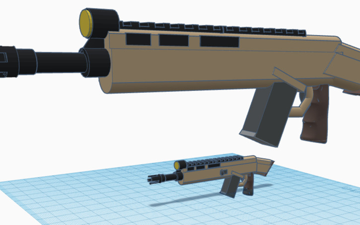 view in 3d - scar h fortnite png