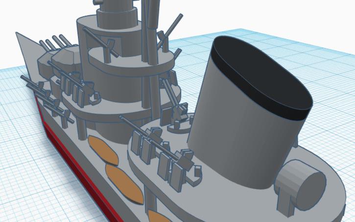 3D design Ultra Super Shimakaze-class Destroyer | Tinkercad