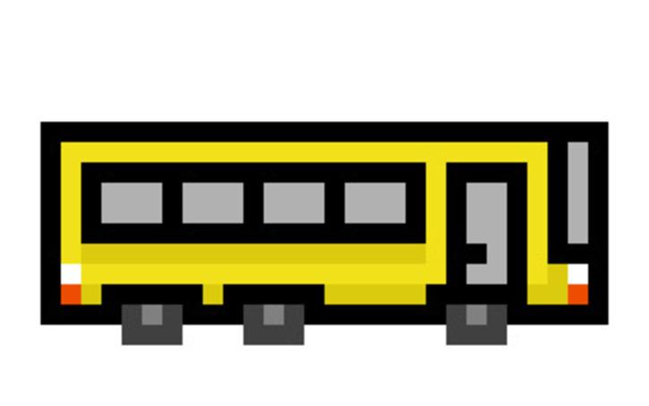 School Bus Pixel Art Tinkercad