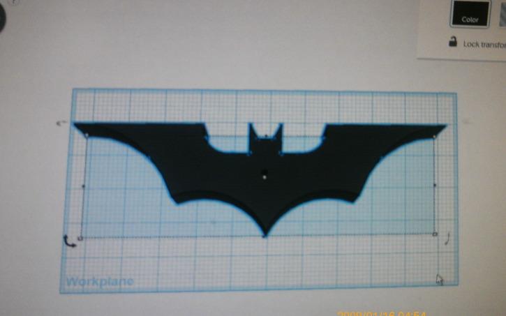 3d Design The Bat Symbol Darkknight 3dprintable Tinkercad