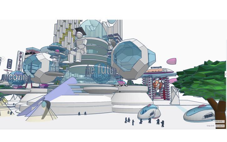Futuristic City | Tinkercad